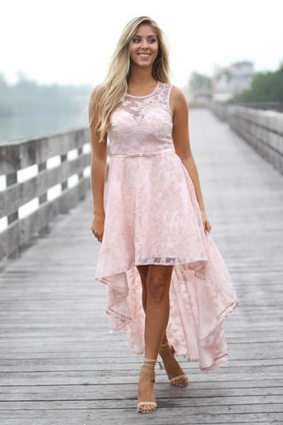 beautiful lace high low dress womens online boutique