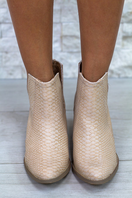 Tarim Blush Booties
