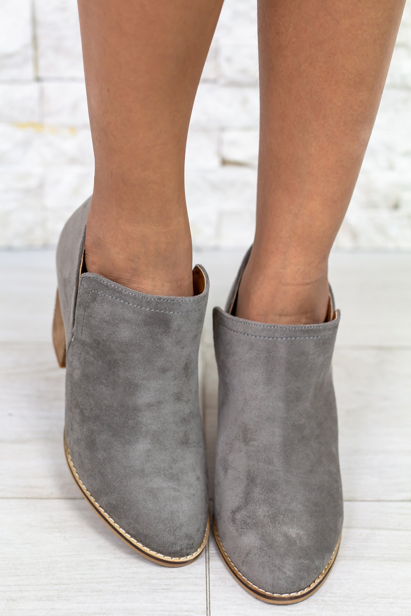 Priscilla Gray Booties
