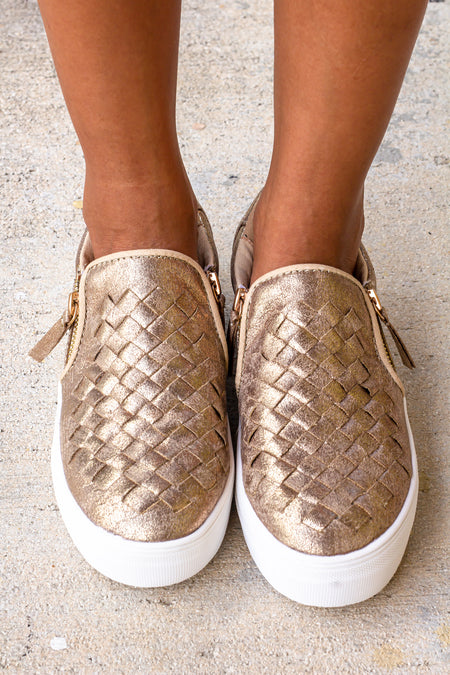 Tiffani Gold Sneakers