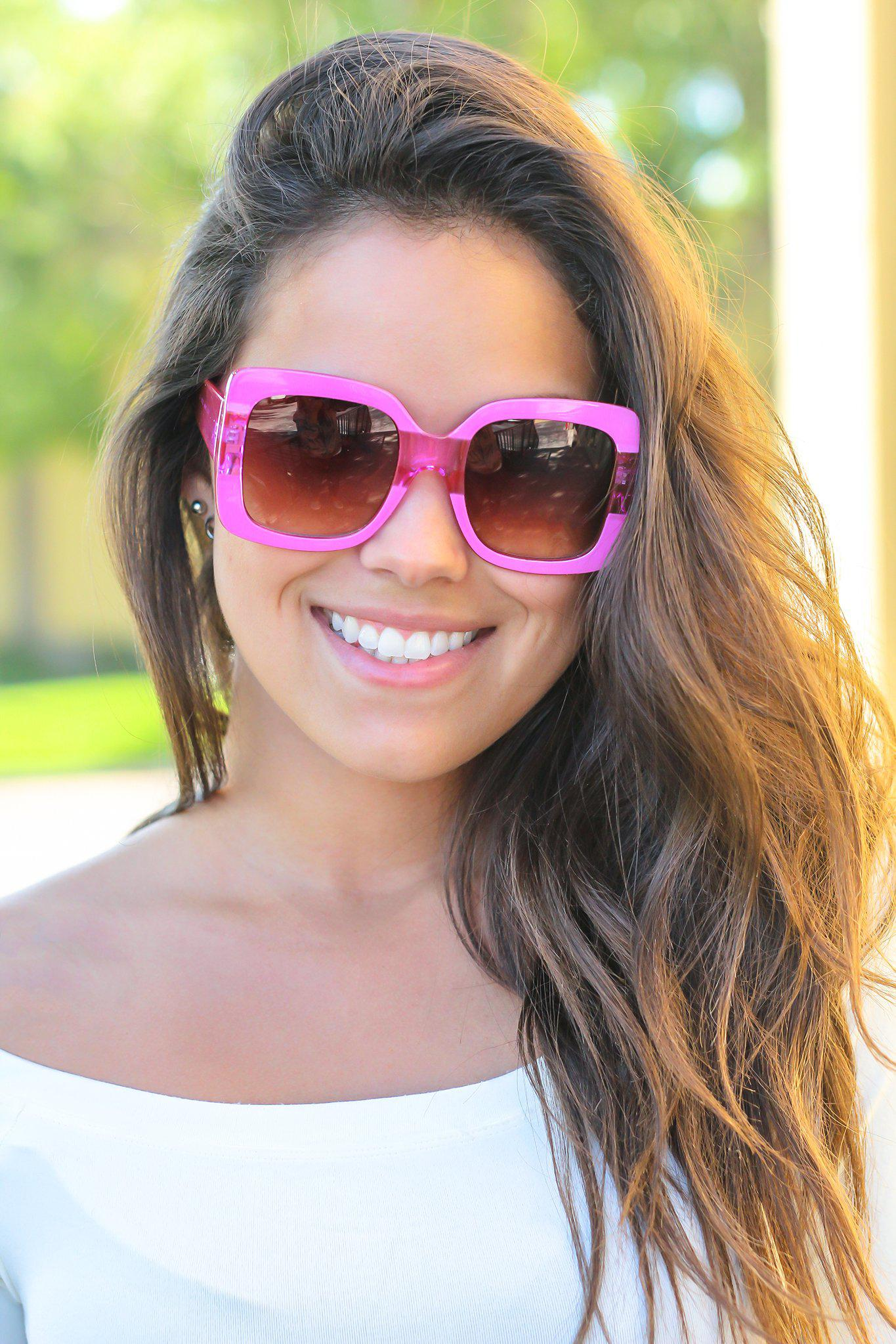 Candy Pink Bold Sunglasses