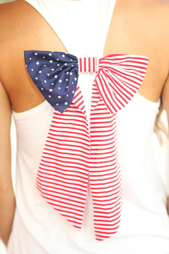 american flag back bow top