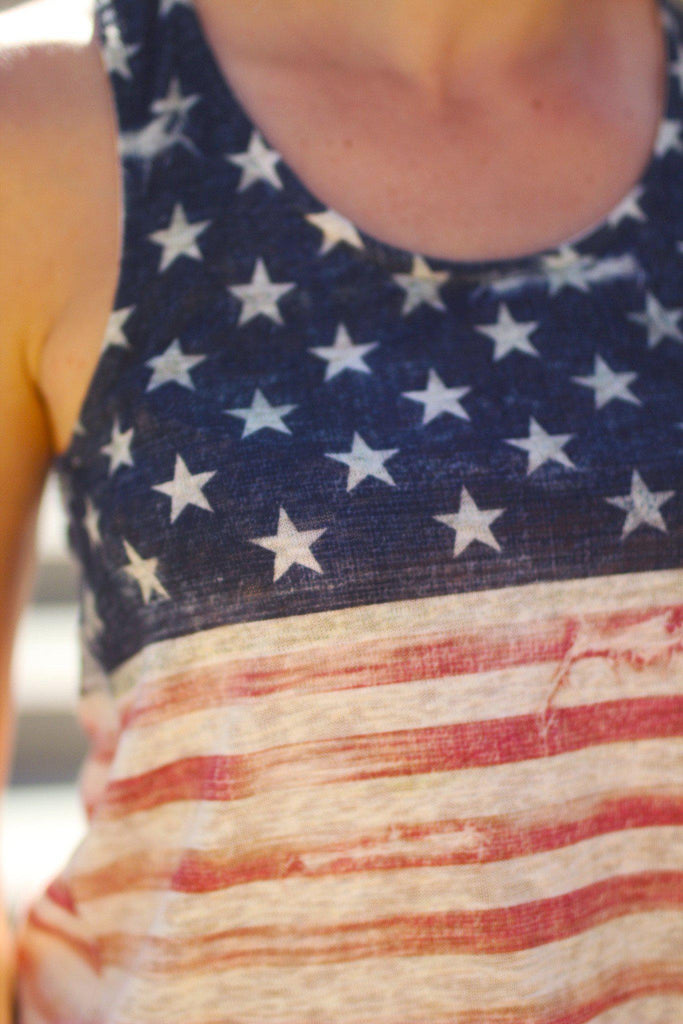 american flag cute tank top