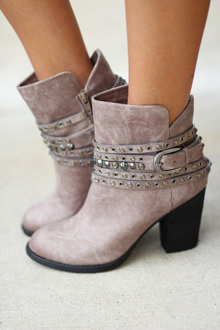 Alpha Gray Booties