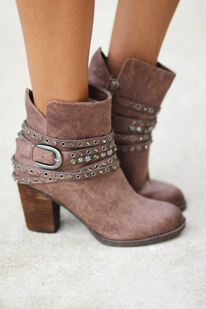 Alpha Taupe Booties
