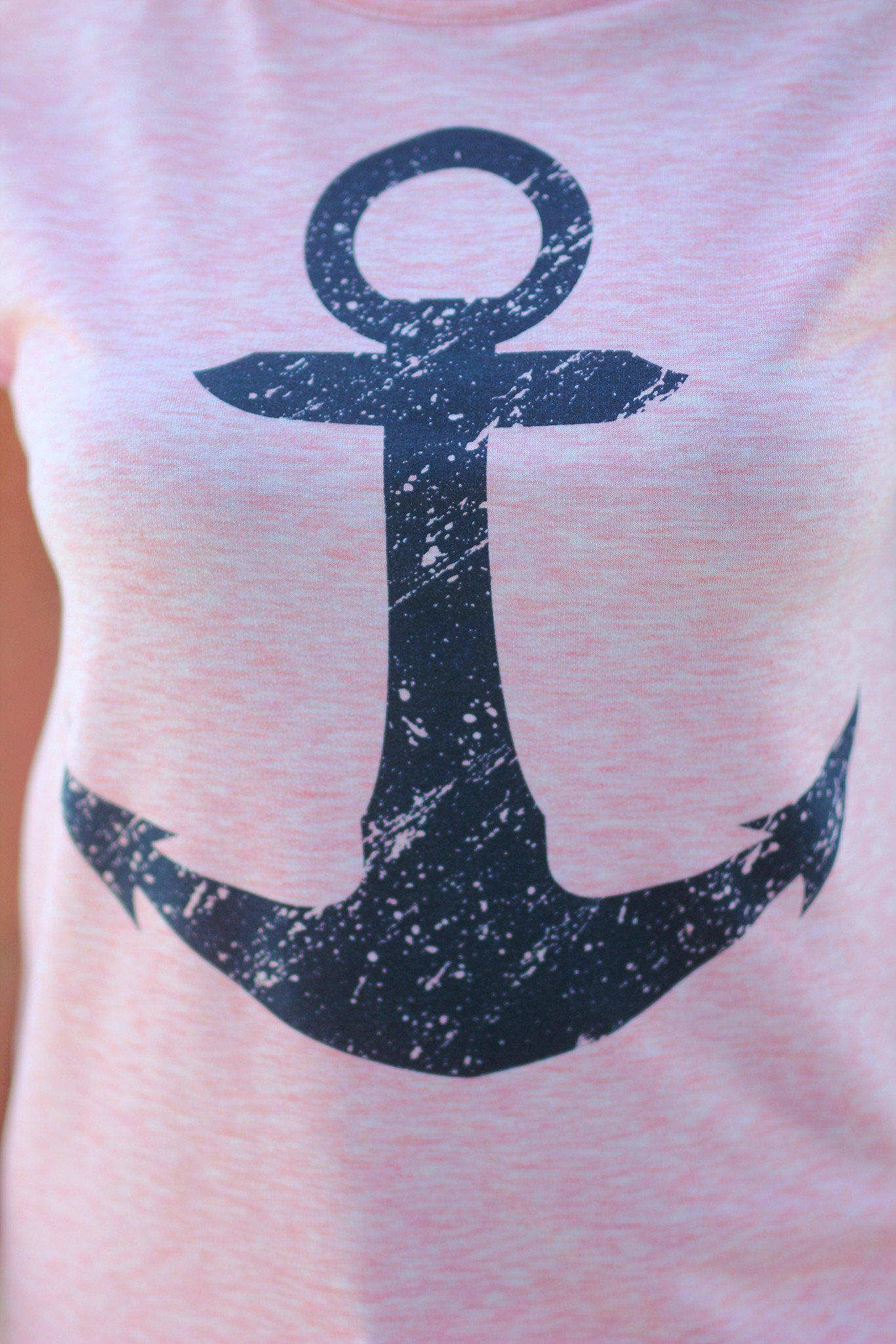 Pink Anchor Tee