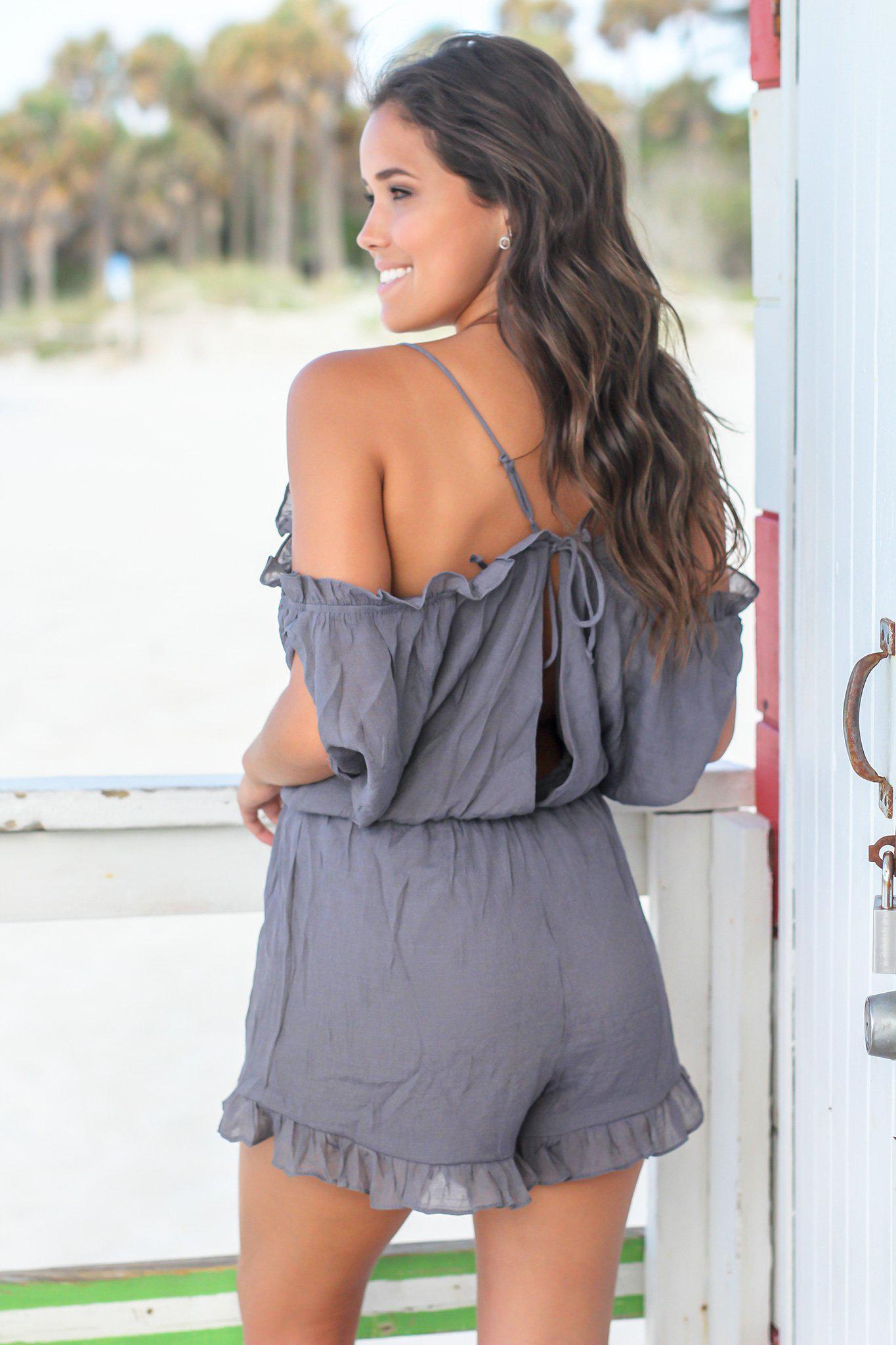 Ash Open Shoulder Romper
