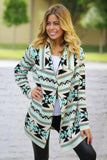 Mint Aztec Cardigan