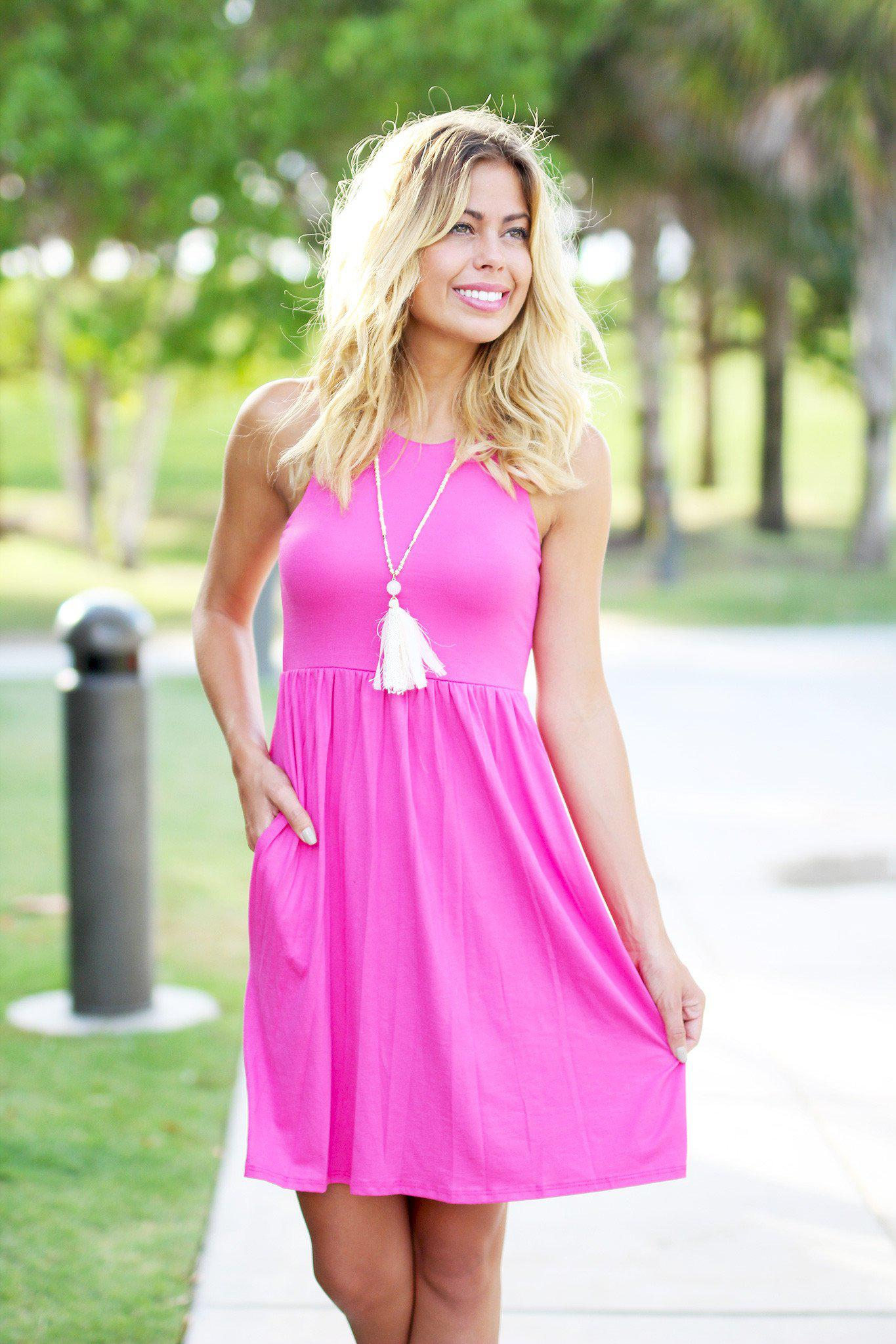 Pink Short Dress with Pockets – Saved by the Dress