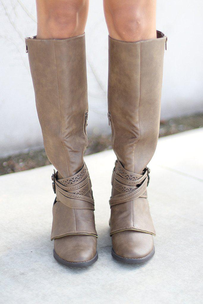 Big Spender Taupe Boots