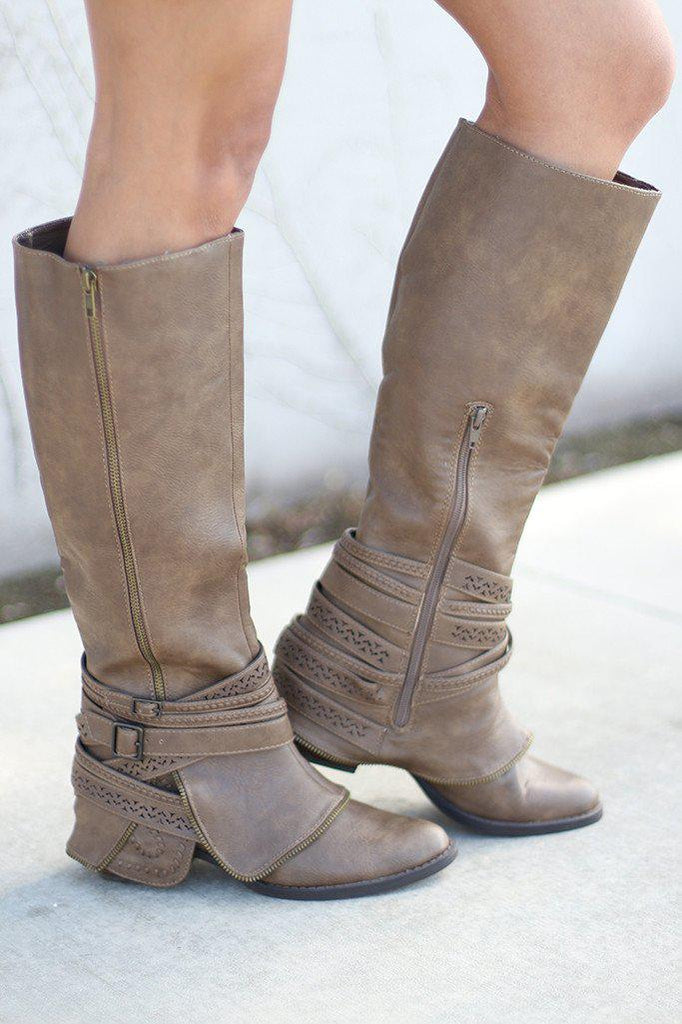 taupe riding boots