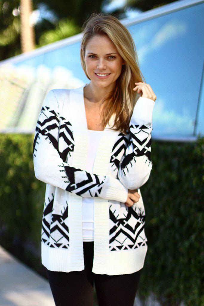 Black And Ivory Cardigan