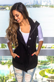 Black Cable Knit Vest