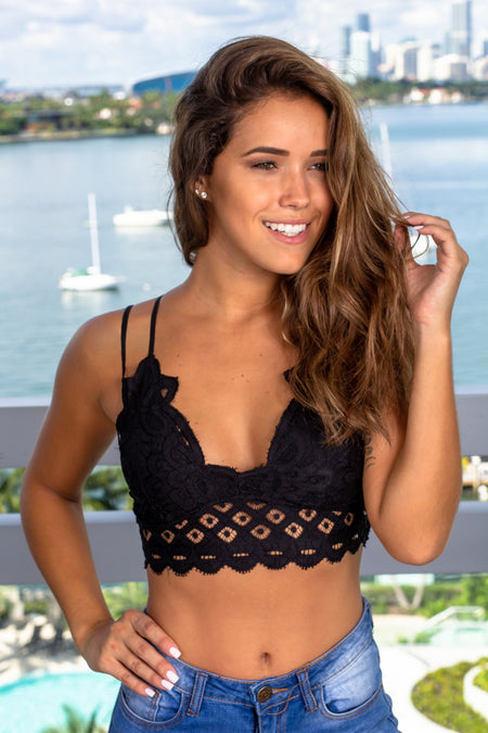 Black Crochet Bralette