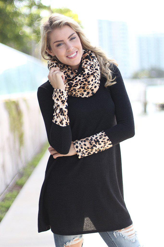 Black Leopard Tunic