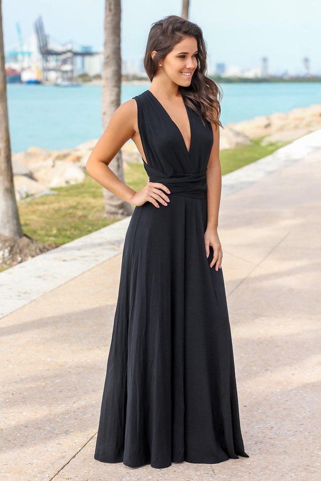 740ab89f1 online boutiques · Quick View · Black Tie Maxi Dress ...
