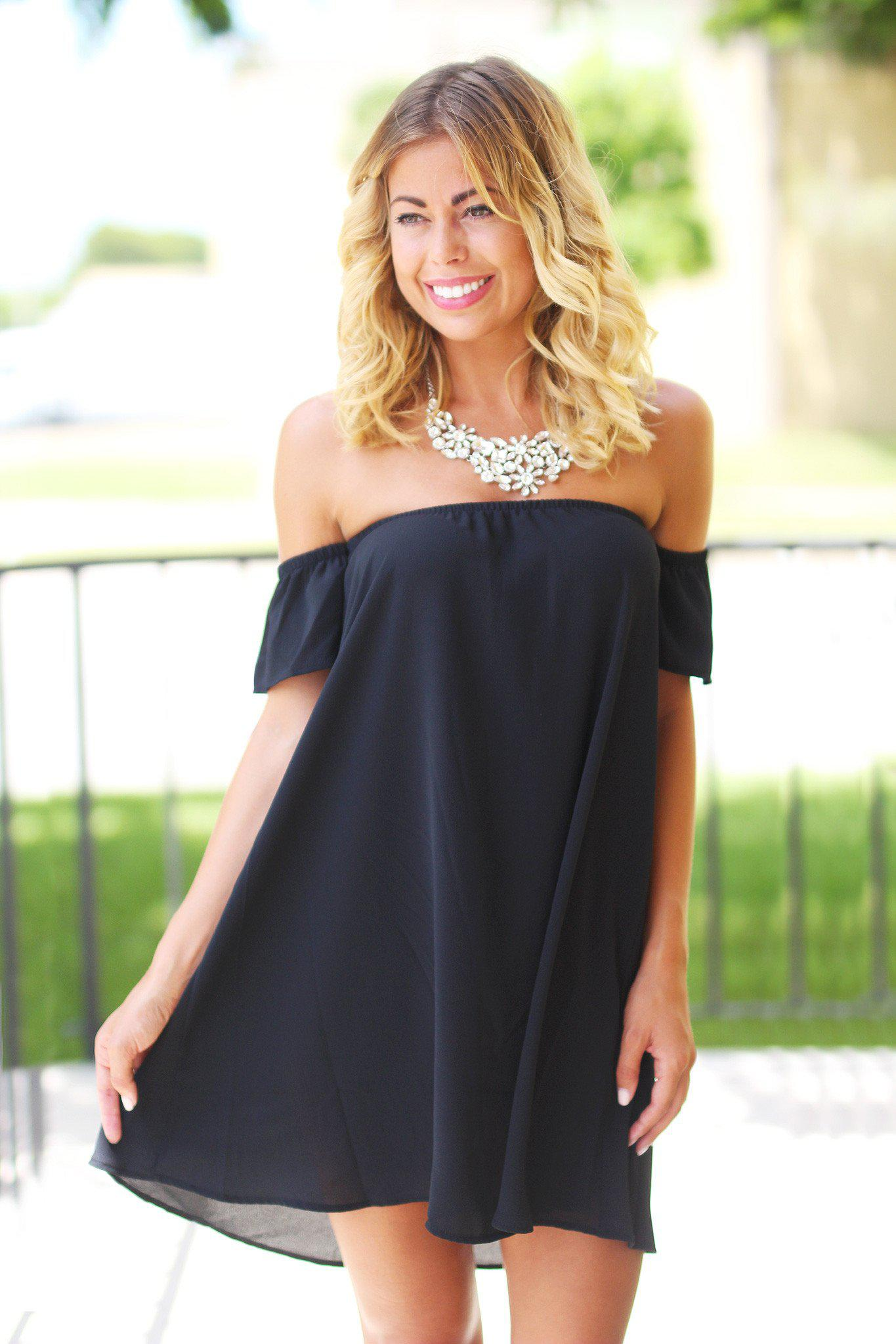 Off the Shoulder Short Sleeve Dress