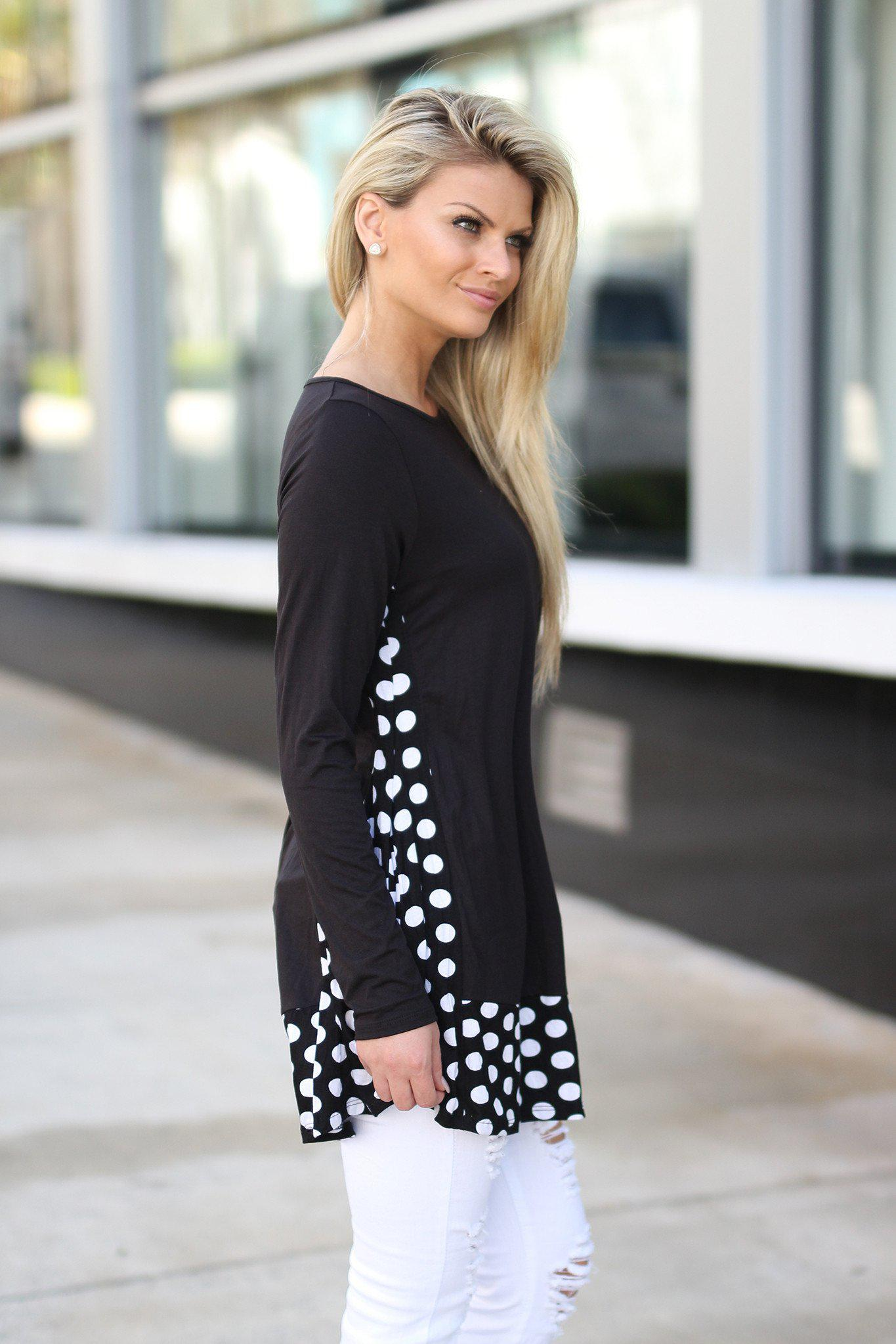 Black Polka Dot Tunic