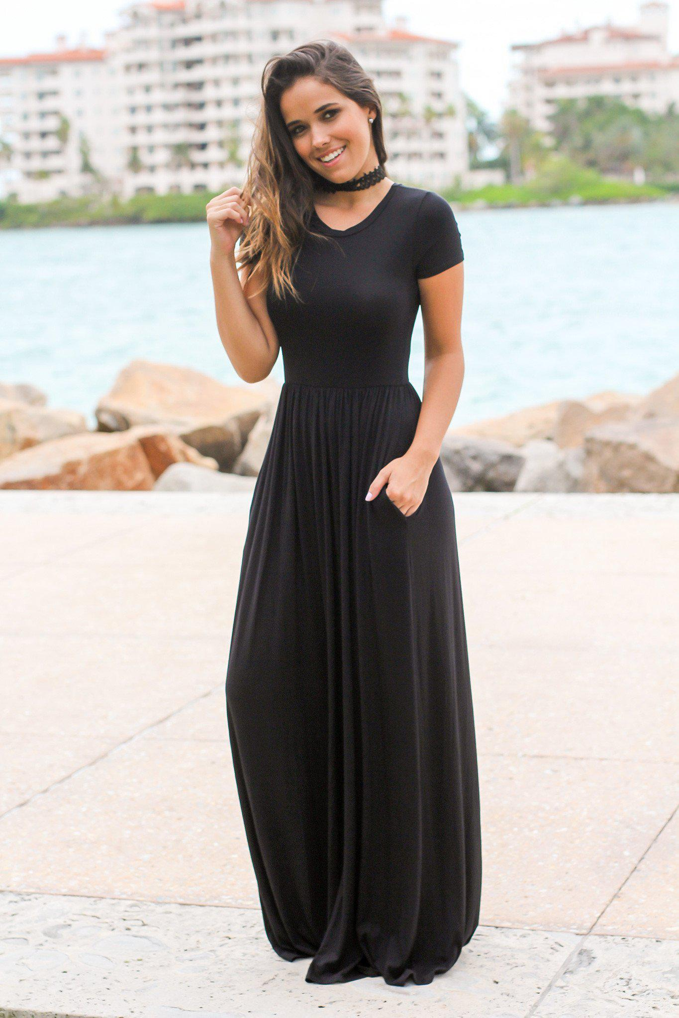 Batwing sleeves and Grecian maxi dresses will give you a sweeter look with some details and twist on the sleeves, very understated and not too overwhelmed as a maxi dress. Flutter sleeve maxi dress is also one of our bestsellers.