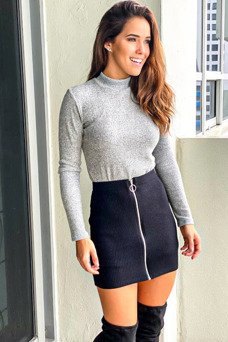 Black Skirt With Zipper