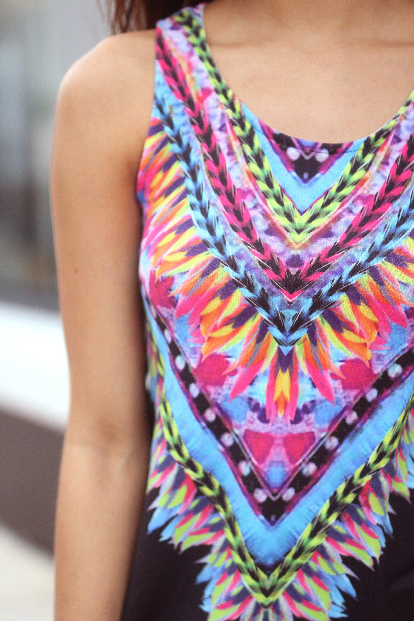 Black Tribal Tank Top