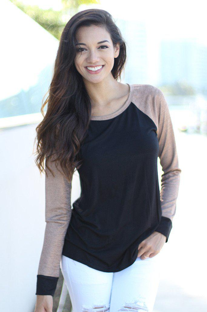 Black and Gold Baseball Tee