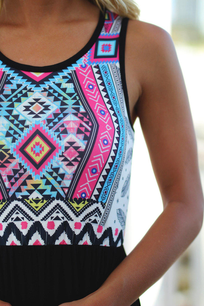 Aztec top maxi dress