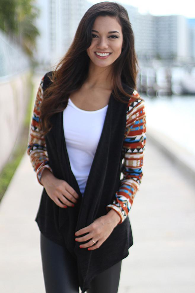 Black and Rust Cardigan