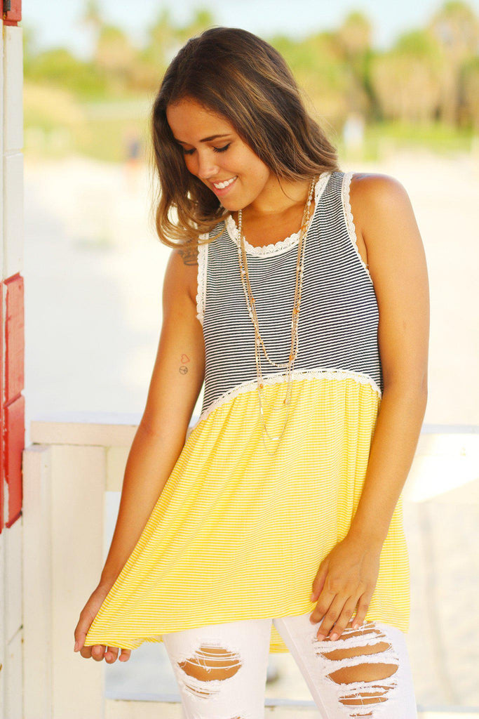 yellow tunic top