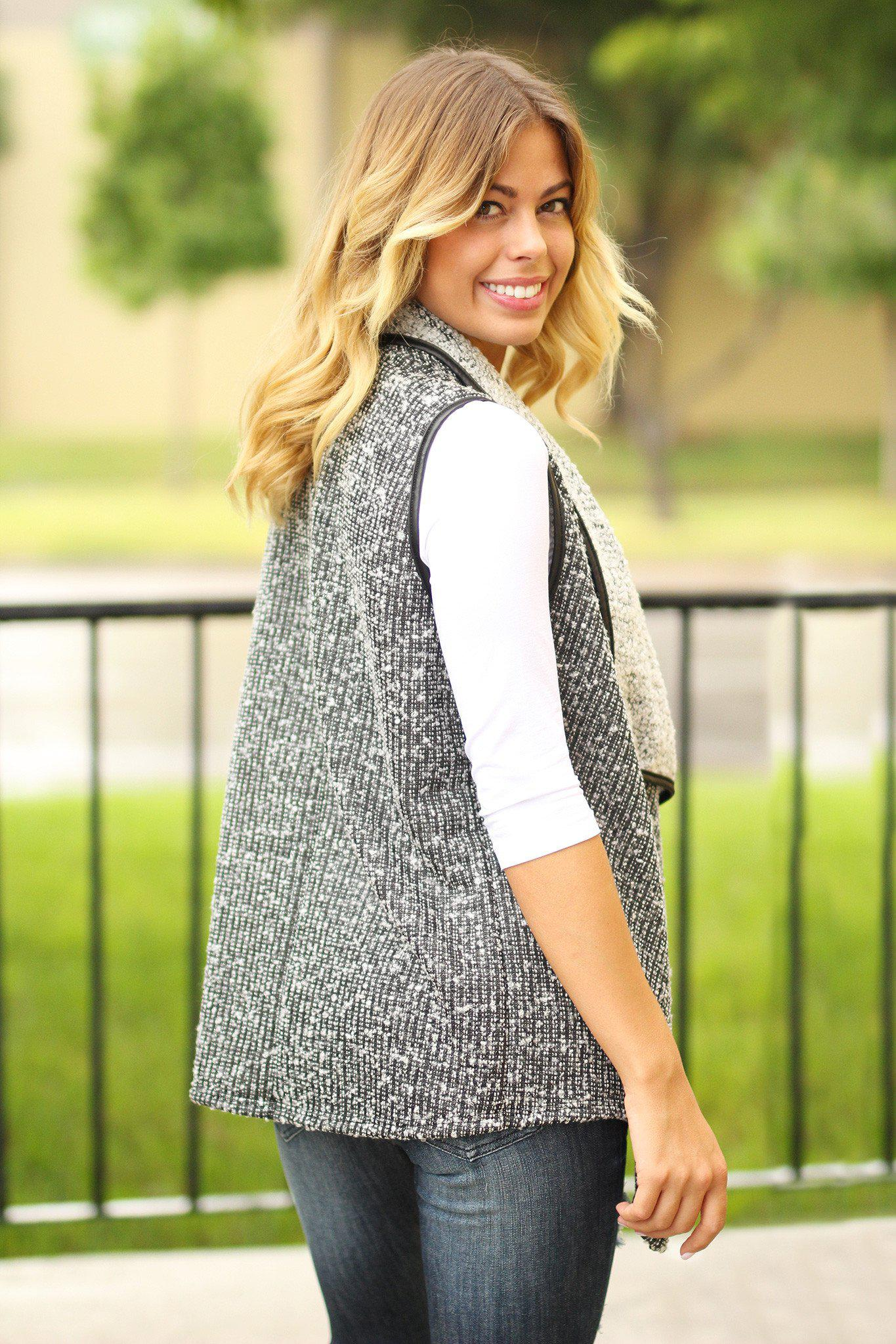 cute knitted vest