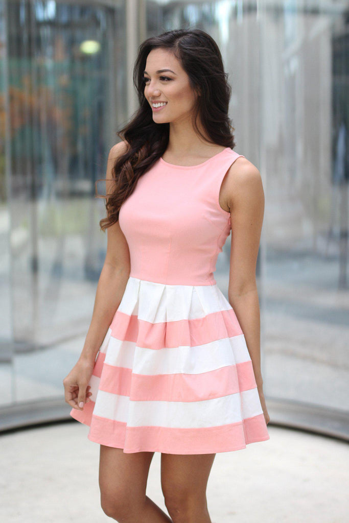 blush cute dress