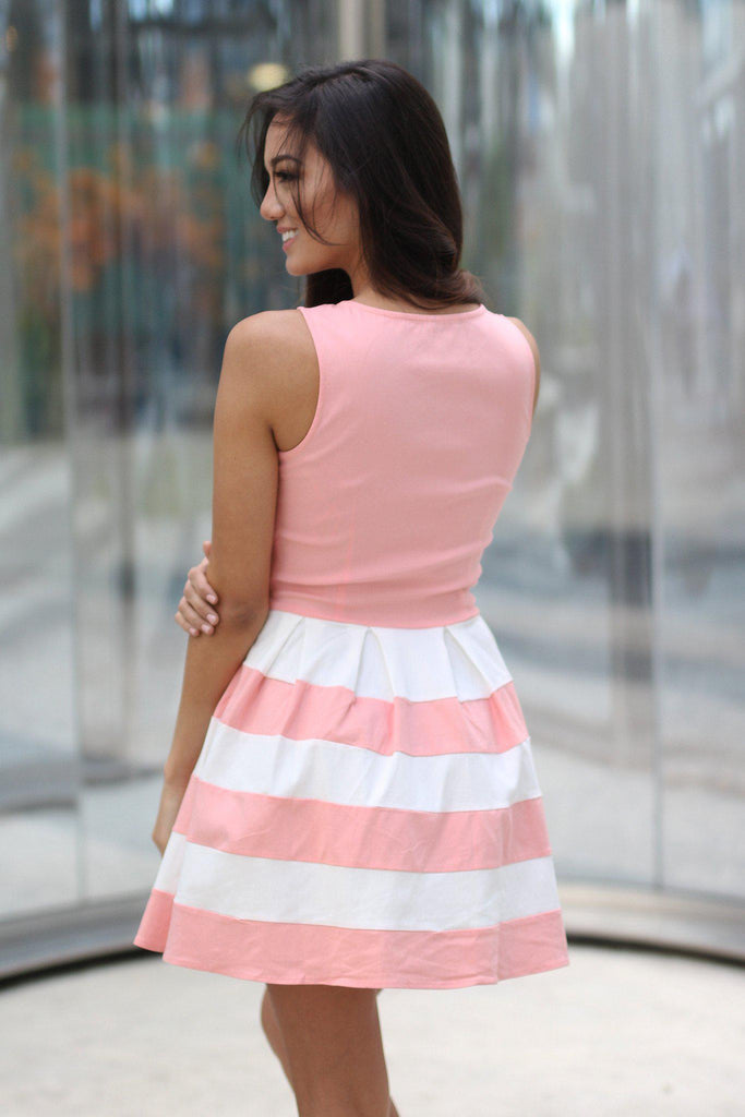 blush short dress