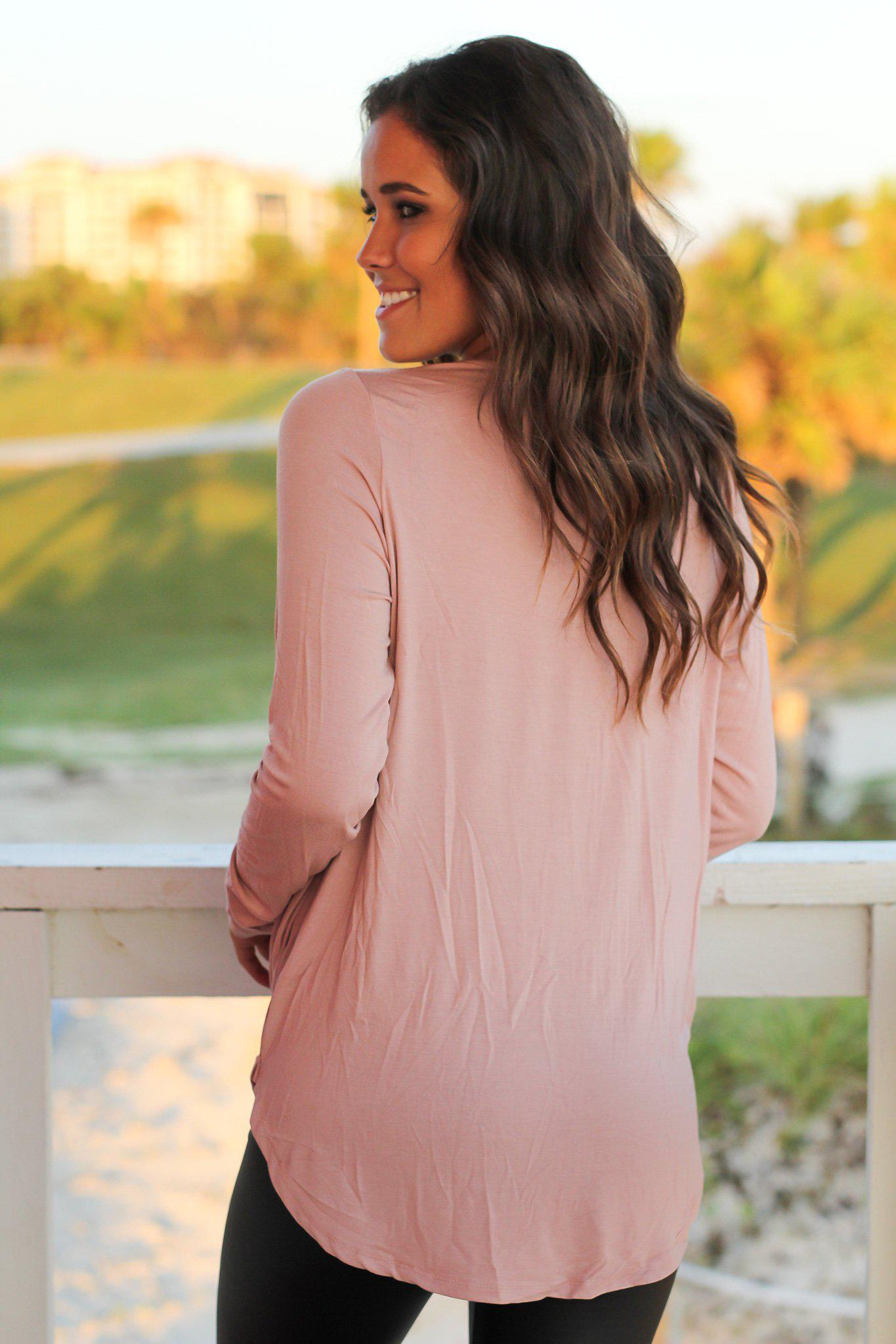 Blush Criss Cross Draped Top