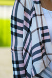 Blush Plaid Cardigan