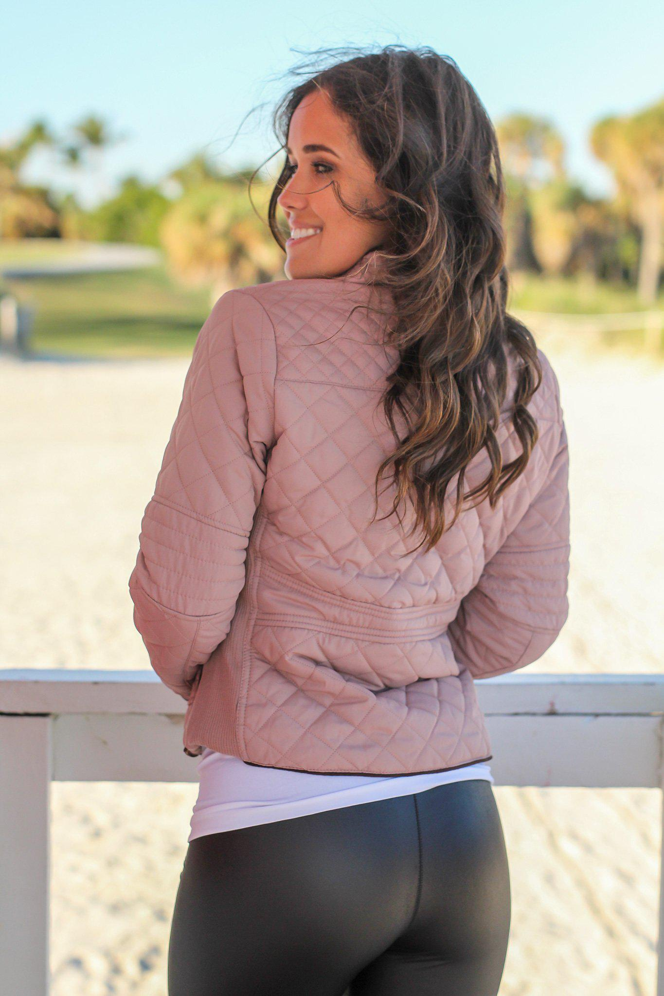Blush Quilted Jacket
