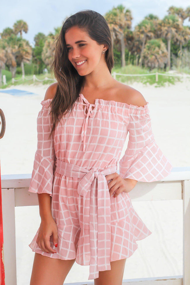Blush Rompers