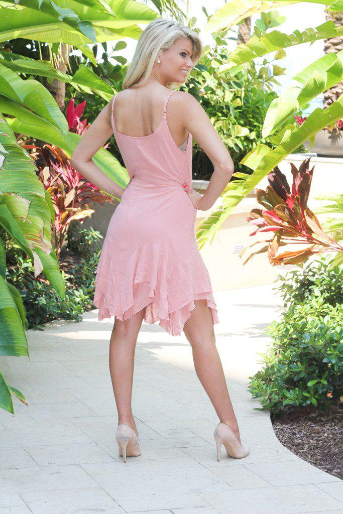 Blush Ruffled Dress