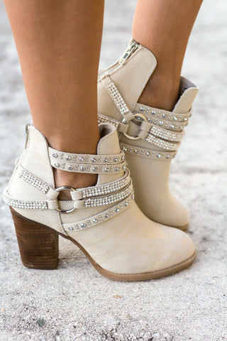 Elly Cream Booties