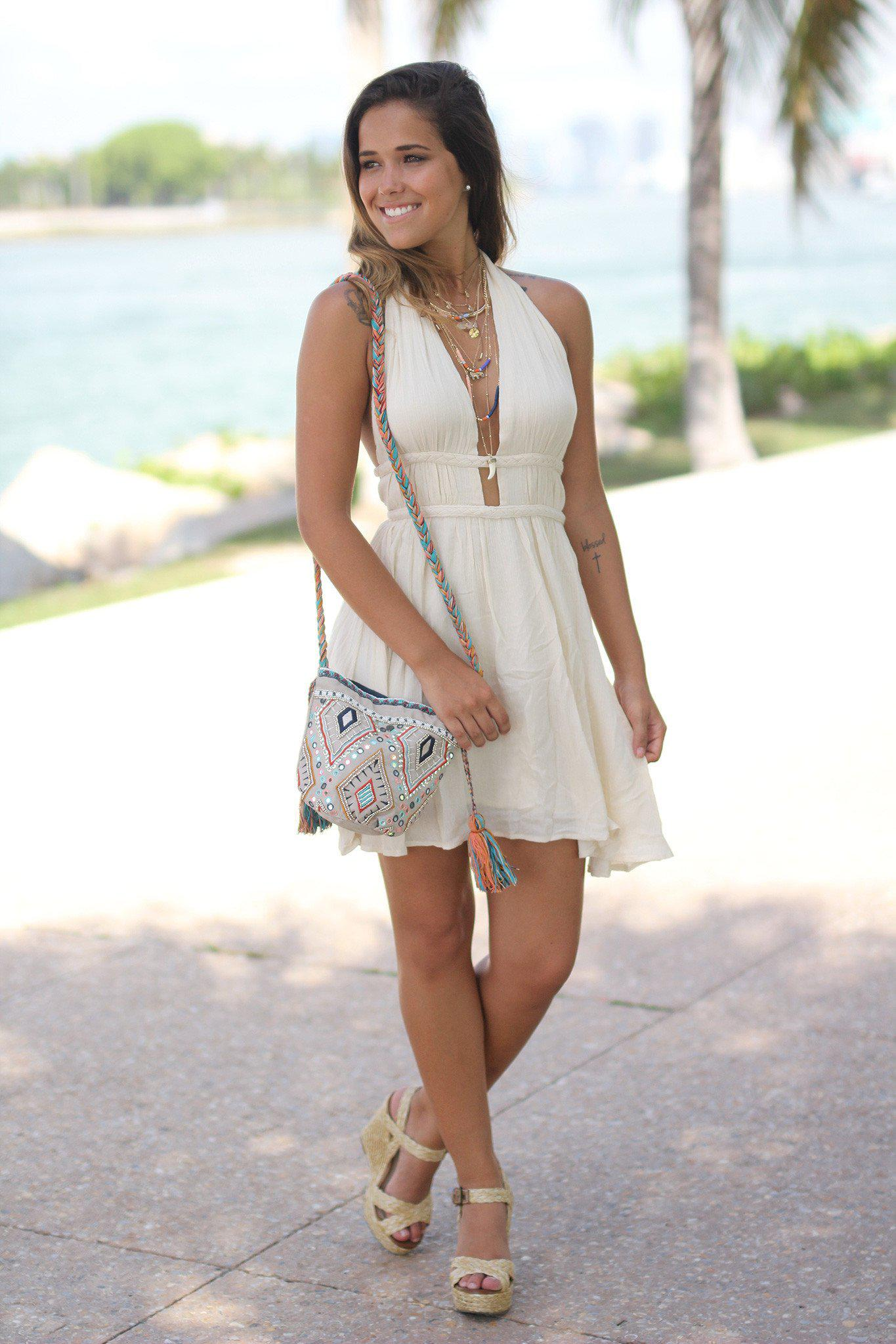 Braided Tassel Shoulder Bag