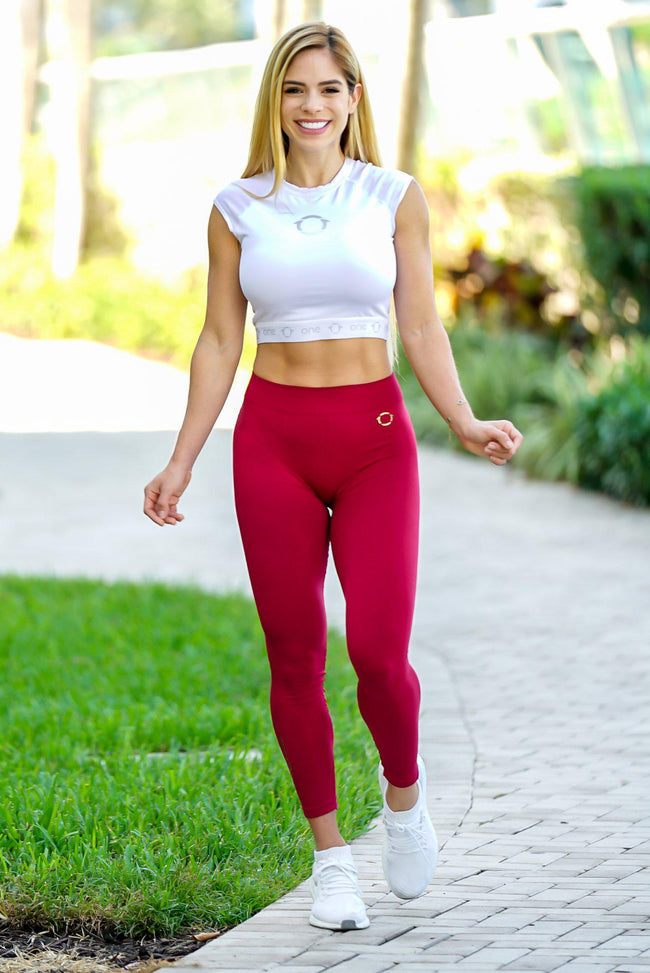 Burgundy Skinflex Leggings