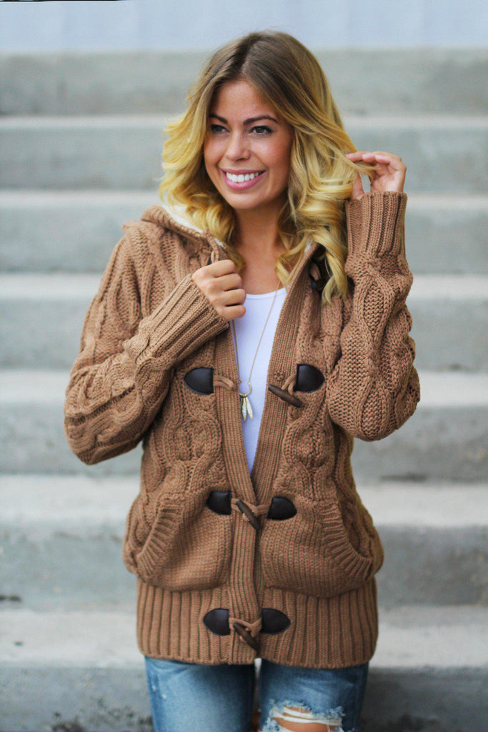 knit camel sweater