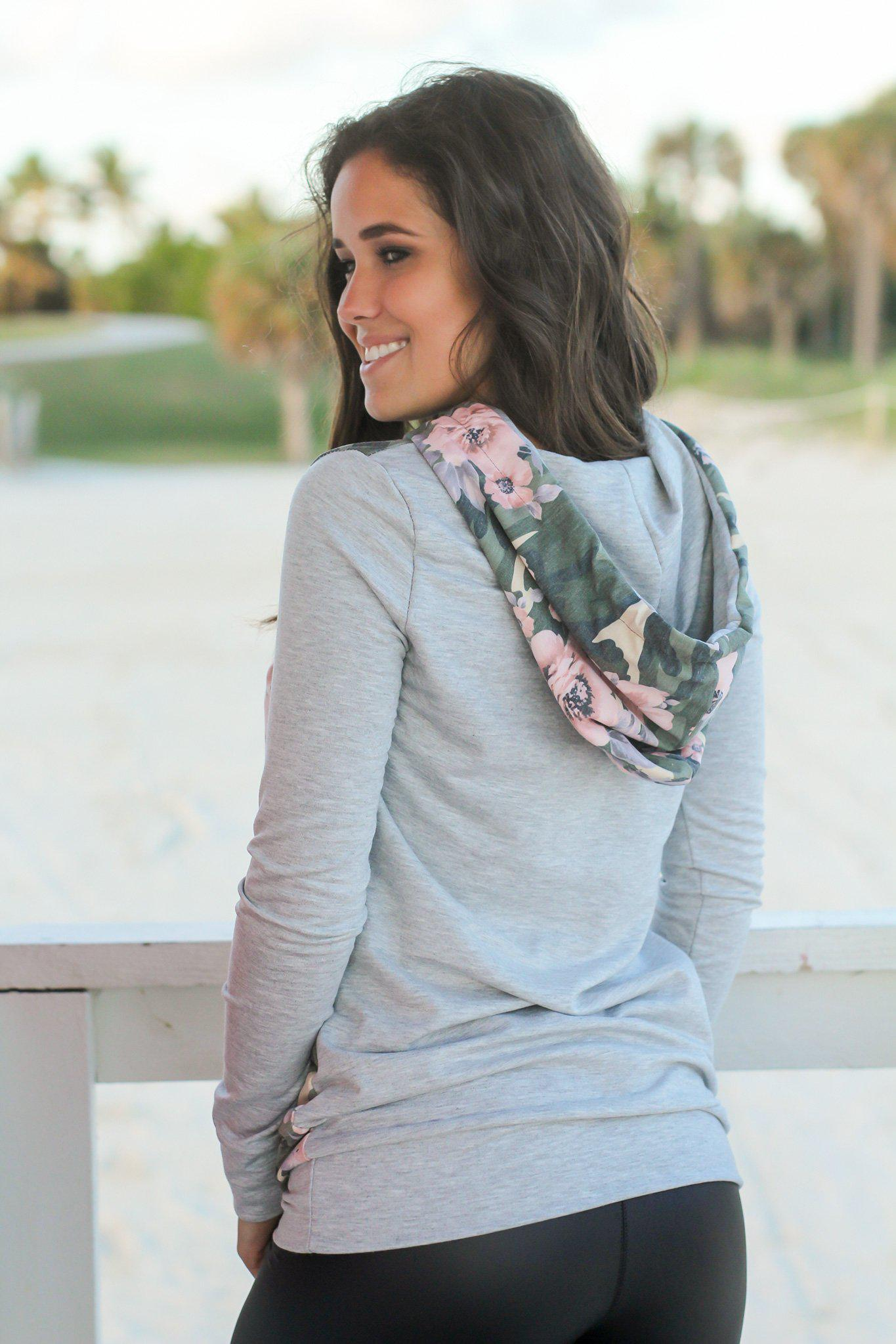 Camo and Floral Hoodie