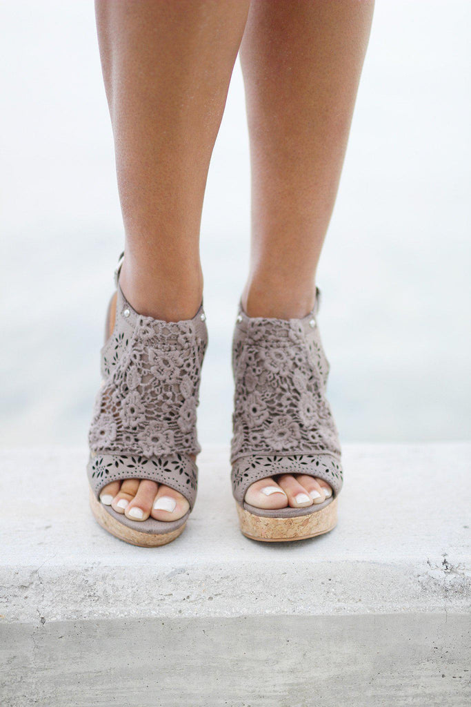taupe candace wedges