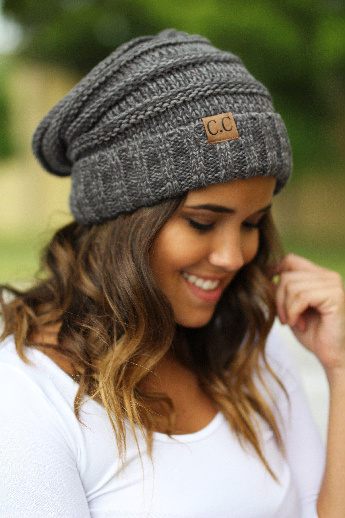 charcoal winter beanie
