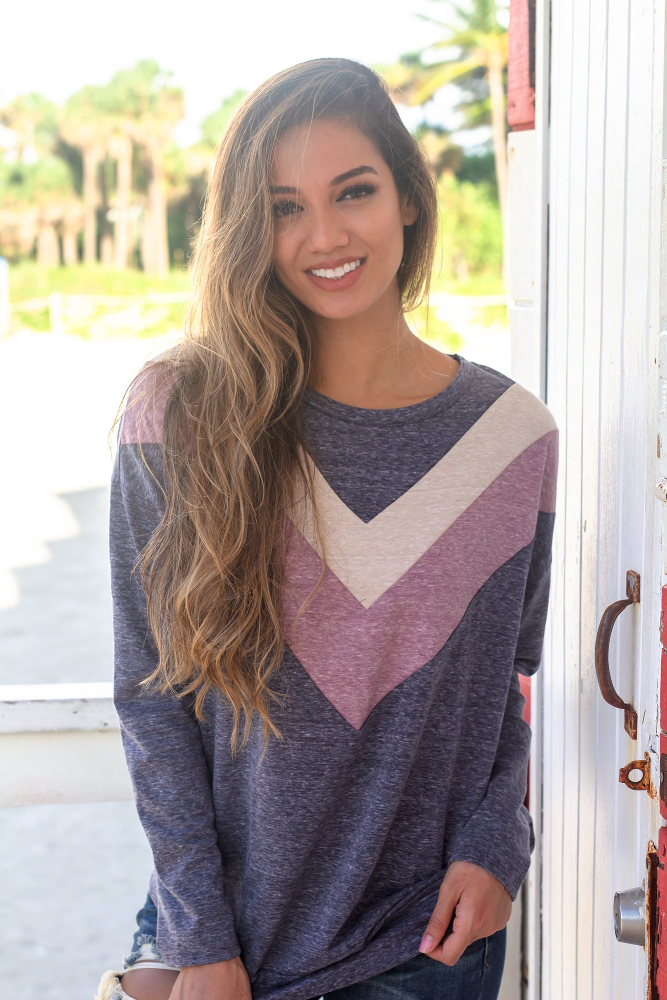 Charcoal Chevron Sweater
