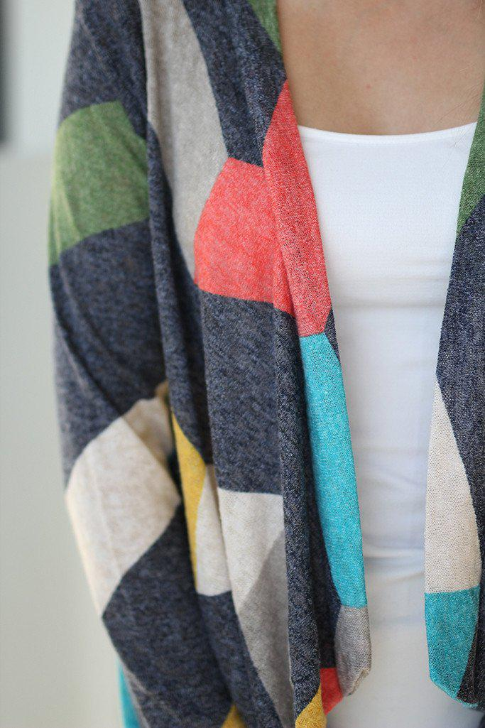 Charcoal Multi Color Cardigan