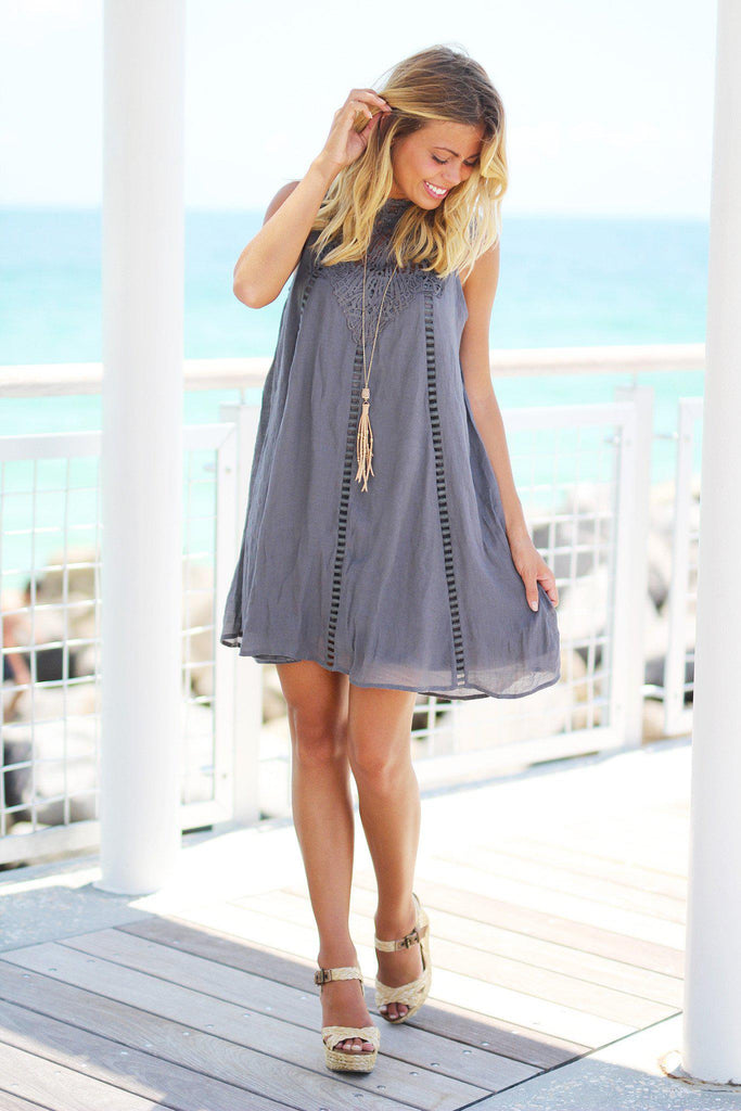 charcoal casual dress