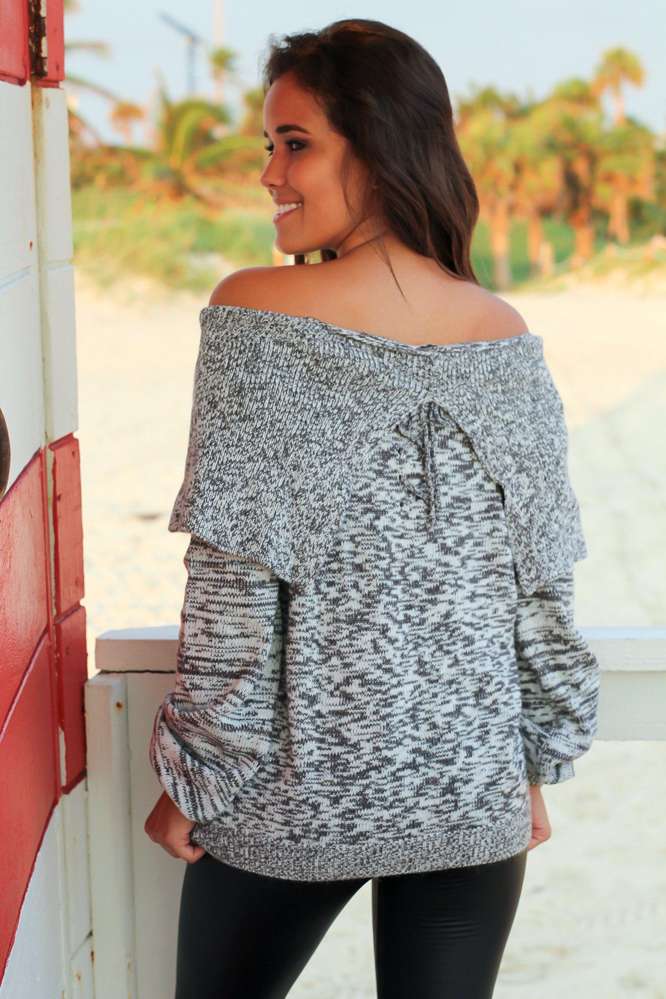 Charcoal Oversized Knit Sweater