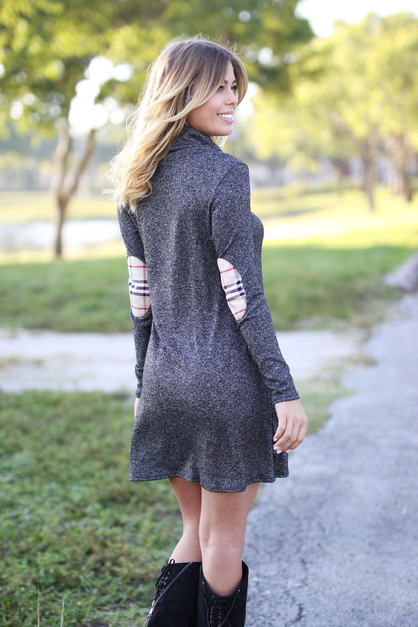 charcoal loose fit dress