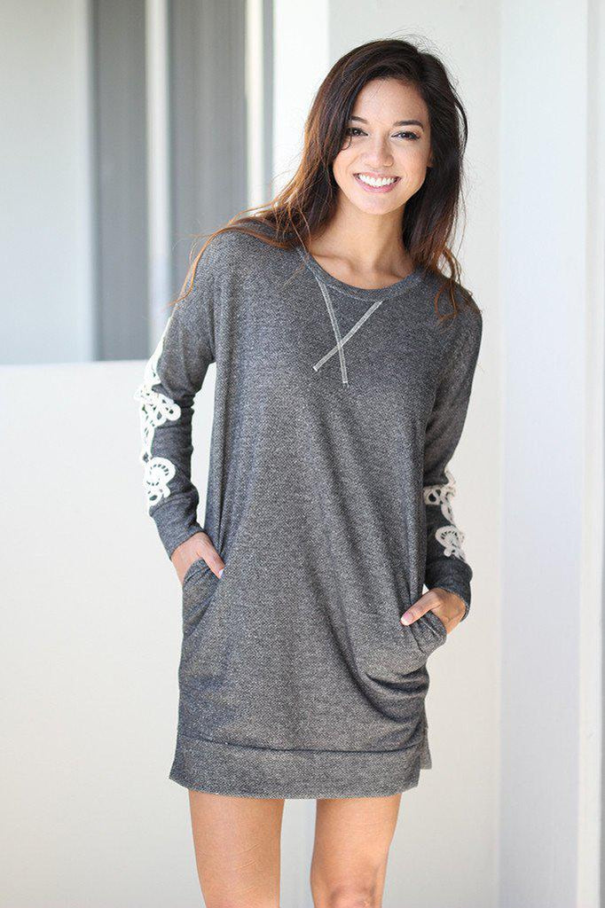 charcoal tunic with pockets